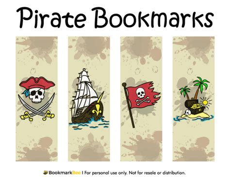 printable army bookmarks free printable pirate bookmarks download the pdf template