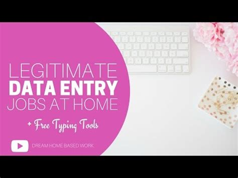 legitimate data entry free work from home typing