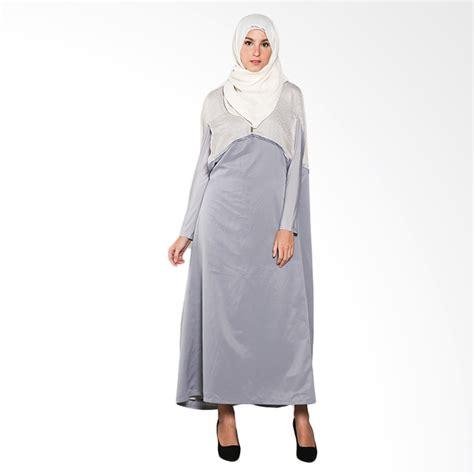 Dres Zaskia Sungkar jual kia by zaskia sungkar najma dress muslim motif grey