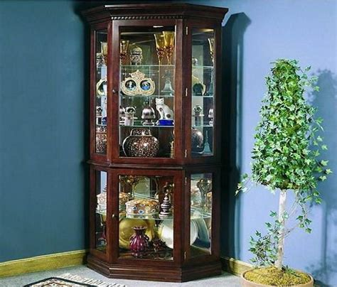 corner curio cabinets with glass doors corner cherry curio shelf with glass doors here are some