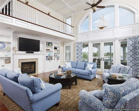 waterfront great room traditional family room