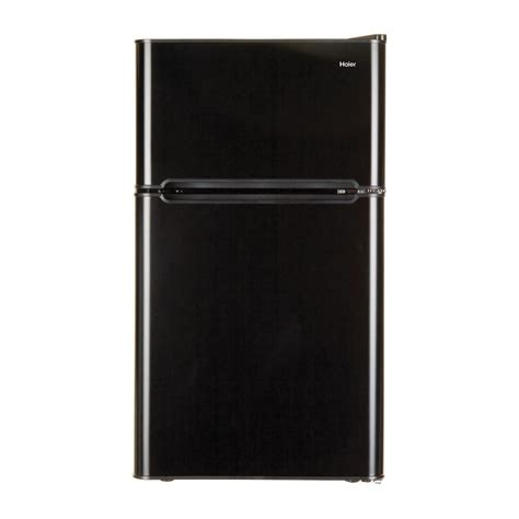 Haier Glass Door Mini Fridge Haier 19 In W 3 2 Cu Ft Mini Refrigerator In Black Hc32tw10sb The Home Depot
