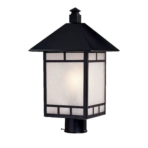 home depot post lights acclaim lighting artisan 1 light matte black outdoor post