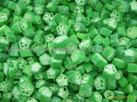 m s frozen vegetables iqf frozen okra dice health benefits products china iqf
