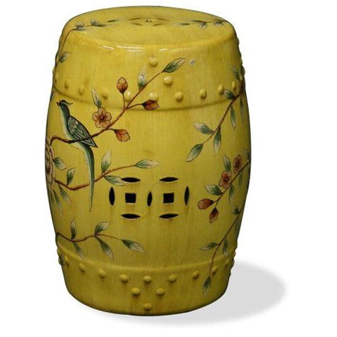 Yellow Color Stool by Antique And Garden Accent Garden Stool Ideas