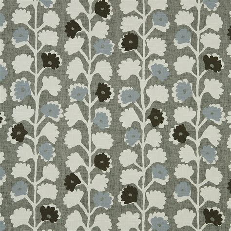 grey and white upholstery fabric blue grey cotton floral upholstery fabric for furniture