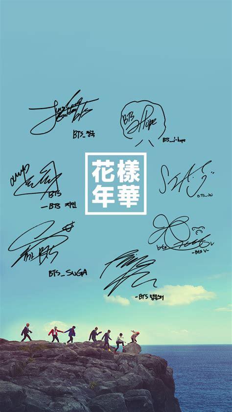 Bts Signature Wallpaper | 桜の花 btsgift bts group signature wallpaper