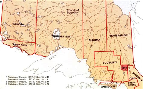 northern ontario map the changing shape of ontario districts of northern