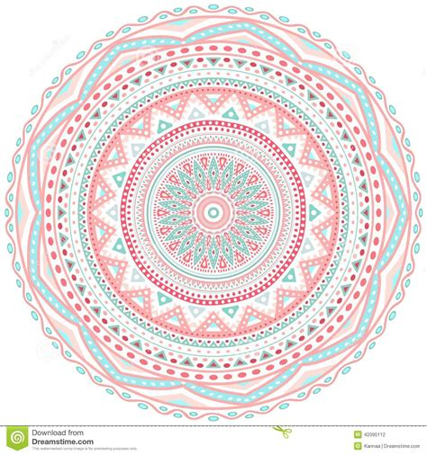 pattern circle pink decorative pink and blue round pattern frame stock vector