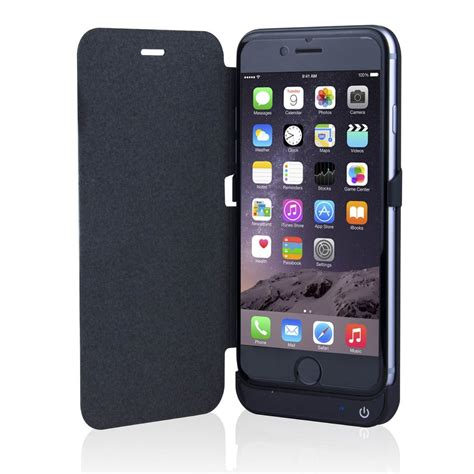 iphone   mah extended battery flip cover backup