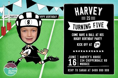 free printable invitations nz rugby birthday invitations that you can customise and print