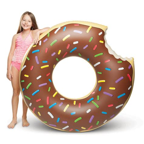 Gusant Original Chocolate by Chocolate Donut Pool Float The Original 4 Foot Float