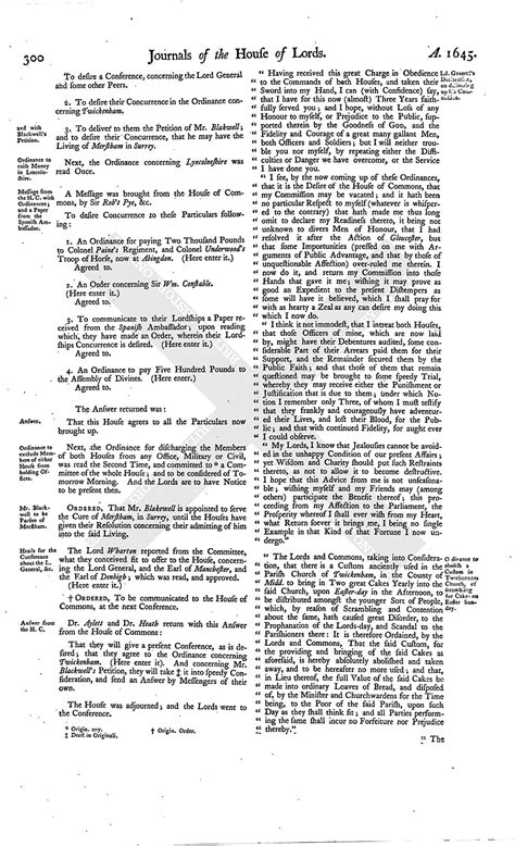 section 179 history house of lords journal volume 7 2 april 1645 british