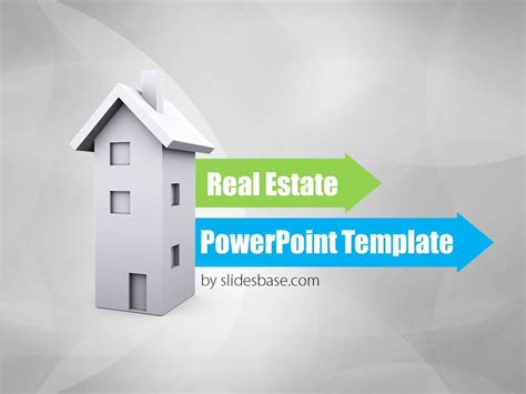 Real Estate 3d Powerpoint Template Slidesbase Real Estate Powerpoint Template