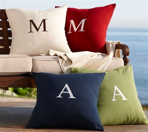 Monogrammed Outdoor Pillow by Monogrammable Indoor Outdoor Pillow Pottery Barn