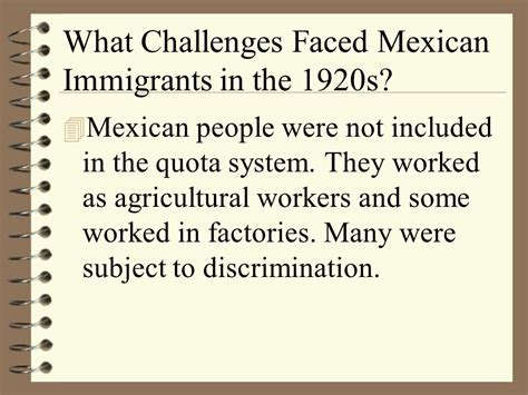 challenges immigrants faced section 3 chapter 7 major question how did americans