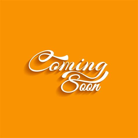 Coming Soon Text Orange Background Vector Free Download Coming Soon Banner Template