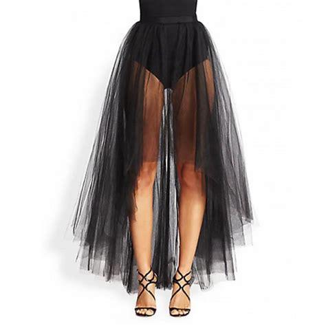 Rok Transparant Tutu asymmetrical skirt front back sheer tulle