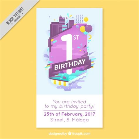 Modern Birthday Cards Modern Business Birthday Card Vector Free Download