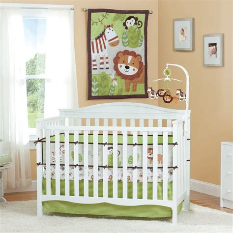 jungle bedding summer infant jungle buddies baby bedding collection
