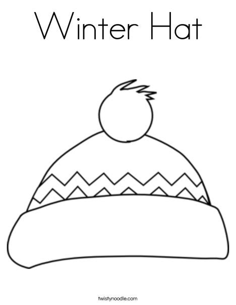 coloring page of winter hat winter hat coloring page twisty noodle