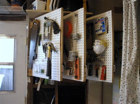 garage organization ta with power tools the workshop pegboard quot book