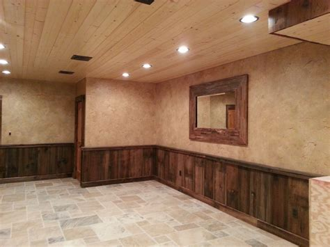 Wood Wainscoting by Crackled Finish Above Barn Wood Wainscoting Pennsylvania