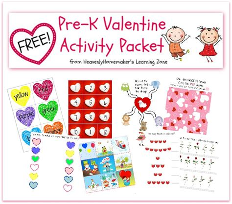 pre valentines free printable activities for pre k