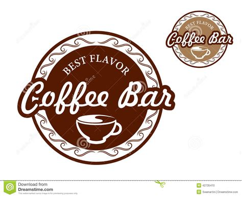 coffee bar signs stock vector image 42735410