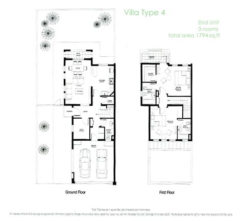 Springs Villa Layout Dubai | springs villa type 4e floorplan dubai