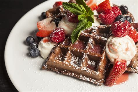 strawberry sauce recipe for waffles chocolate waffles with cheesecake mousse mixed berries