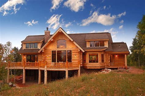 Country House Style Country Style Handcrafted Log House With Dormers And Sun