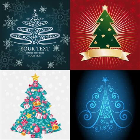 pattern for christmas tree box 4 designer abstract christmas tree vector