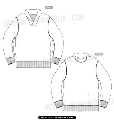sweater template sleeve hellovector