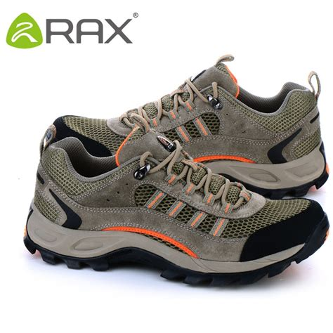 big size 45 rax genuine leather hiking shoes outdoor