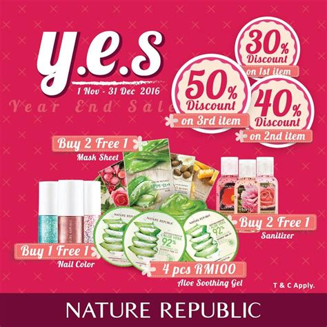 New Nature Republic Promoo Akhir Tahun nature republic year end sale up to 50 cosmetic sale in malaysia
