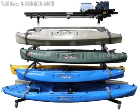 boat overhead storing boats kayaks canoes in overhead vertical lifts