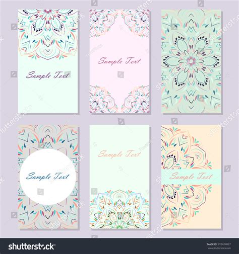 pastel color card templates set elegance pastel colored business card stock vector