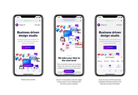 iphone menu layout iphone x web navigation concept muzli design inspiration