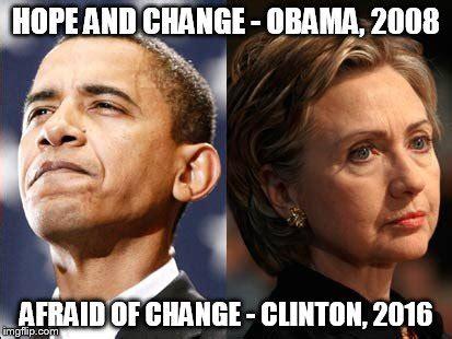 Obama Hope Meme Generator - obama v clinton imgflip