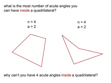 Acute Angles by Median Don Steward Mathematics Teaching Most Acute Angles