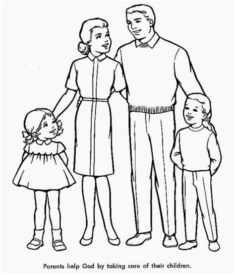 family coloring sheets free coloring sheet