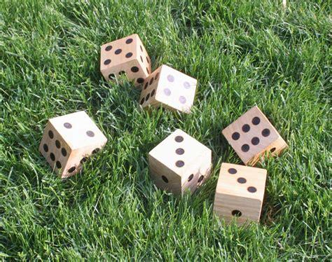 diy wooden games diy wooden yard dice sometimes homemade