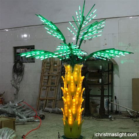 wholesale led lighted palm trees for outside ichristmaslight