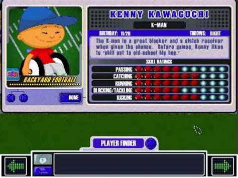kenny backyard baseball kenny kawaguchi theme backyard football 2002 youtube