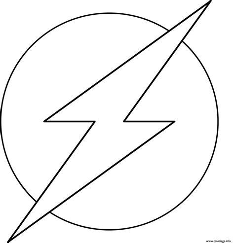 Coloriage Flash Super Heros Logo Officiel Marvel Dessin