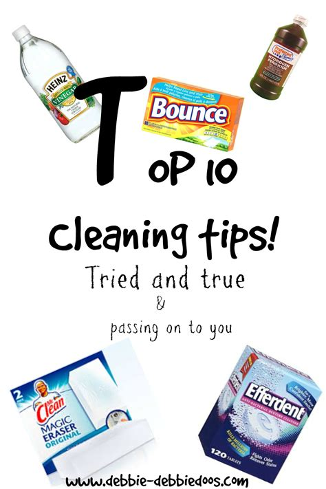 cleaning tips top 10 cleaning tips that really do work debbiedoos