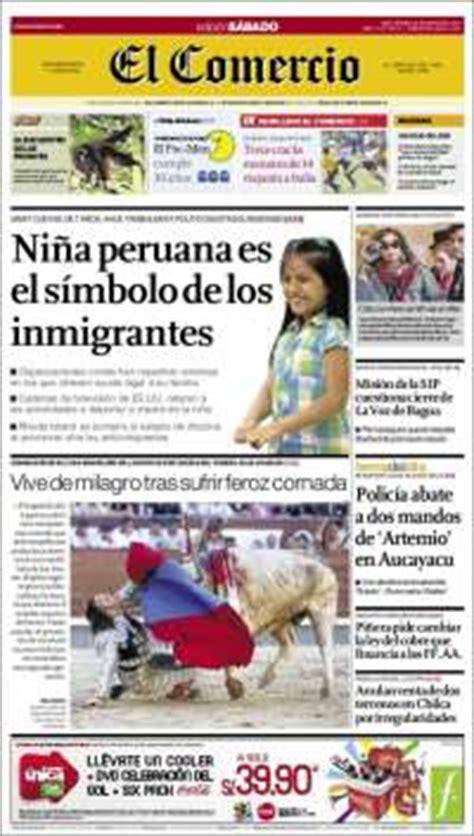 diario el comercio peru newspapers in peru saturday s edition may 22 of 2010