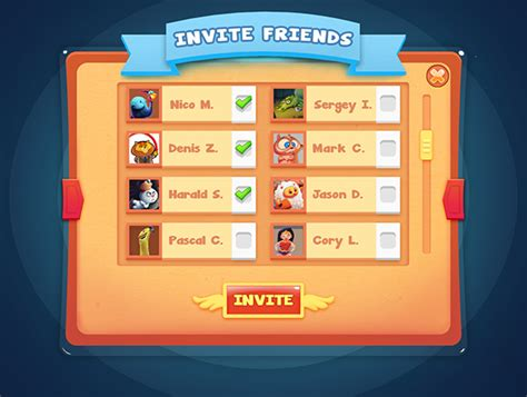 game ui layout casual game ui design on behance