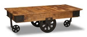 industrial wheeled coffee table industrial iron wheel coffee table trade furniture company